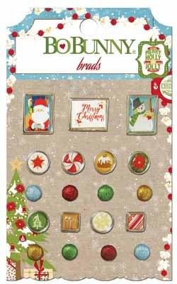 Bo bunny Dear Santa Brads - Shop and Crop Scrapbooking