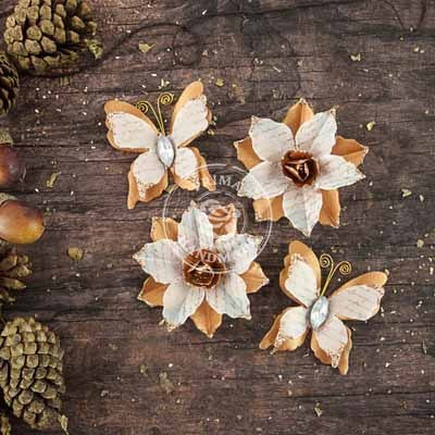Prima Flowers - Bethlehem Roasted Chestnut - Shop and Crop Scrapbooking