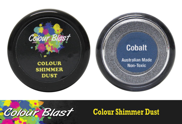 Colour Shimmer Dust - Cobalt - Shop and Crop Scrapbooking
