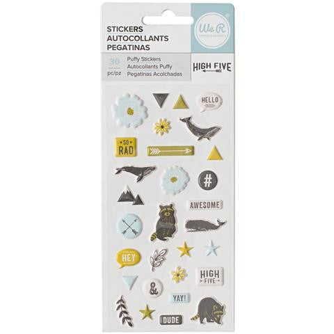 High Five Puffy Stickers-We R Memory Keepers - Shop and Crop Scrapbooking