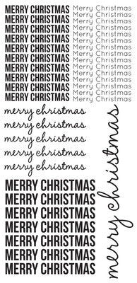 Clear Stickers - Merry Christmas - Shop and Crop Scrapbooking