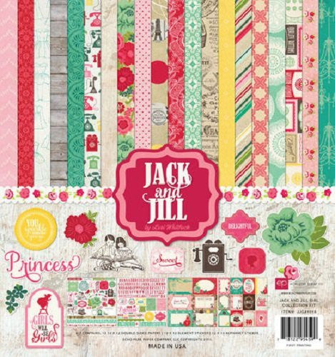 Echo Park - Jack and Jill Collection - Girl - 12 x 12 Collection Kit - Shop and Crop Scrapbooking