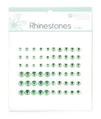 Rhinestones Light Green pk60