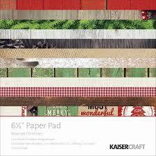 "Kaisercraft Christmas Basecoat  6x6"" Paper Pad - Shop and Crop Scrapbooking"