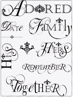 Delish Designs - Clear Acrylic Stamps - Petite Words - Shop and Crop Scrapbooking