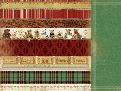 Teddy Bears Picnic 12x12 Scrapbook Paper - Parade - Shop and Crop Scrapbooking
