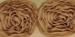 Ribbon Roses Large - Coffee - Shop and Crop Scrapbooking