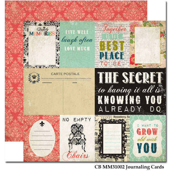 Carta Bella Journaling Cards - Moments & Memories - Shop and Crop Scrapbooking