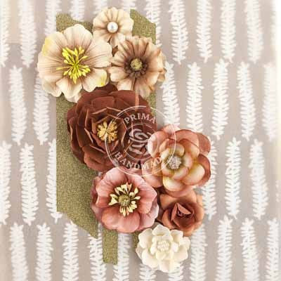 Prima Flowers-Capistrano - Milk Shake - Shop and Crop Scrapbooking