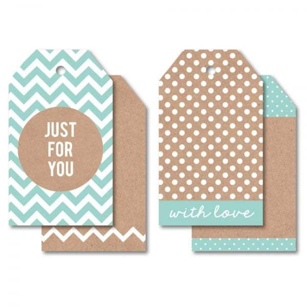 Tag Pks - Just for You Blue - Shop and Crop Scrapbooking