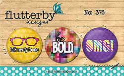 FLAIR BUTTON NO.376 - Shop and Crop Scrapbooking