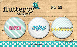 FLAIR BUTTON NO.52 - Shop and Crop Scrapbooking