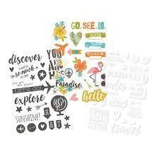 You are Here Clear Stickers - Shop and Crop Scrapbooking