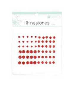 Rhinestones Red pk60 - Shop and Crop Scrapbooking