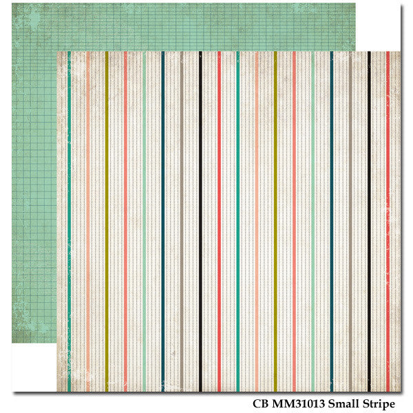 Carta Bella Small Stripe Paper - Moments & Memories - Shop and Crop Scrapbooking
