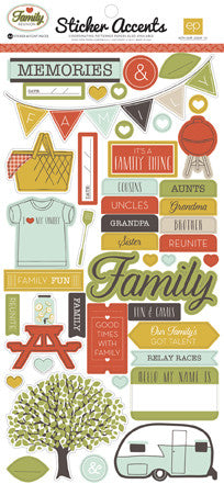 Echo Park Family Reunion Sticker - Shop and Crop Scrapbooking