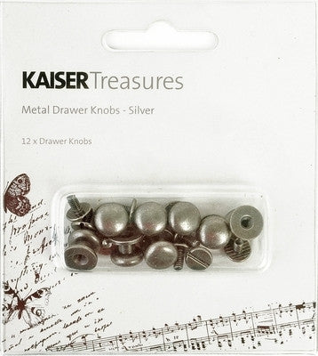Kaisercraft Treasures Drawer Knobs Silver - Shop and Crop Scrapbooking