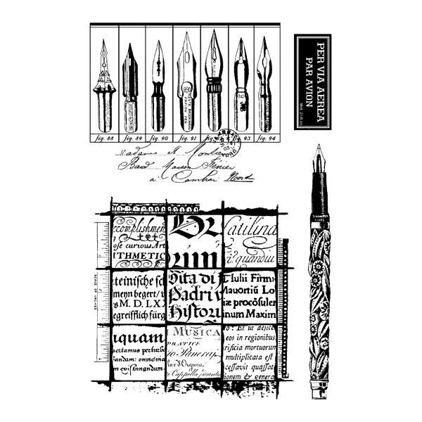 Writing Set Clearly Impressed Stamp Set by Julie van Oosten - Shop and Crop Scrapbooking