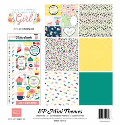 Echo Park My Little Girl Collection Kit - Shop and Crop Scrapbooking
