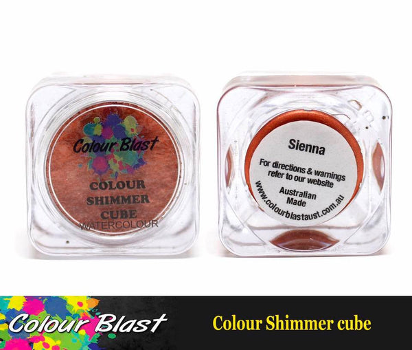 Colour Shimmer Cube - Watercolour - Sienna