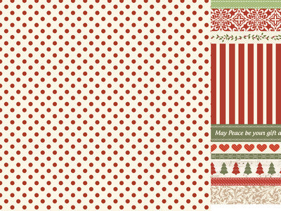 Kaisercraft - Silent Night 12x12 Scrapbook Paper - Wrap the Presents - Shop and Crop Scrapbooking