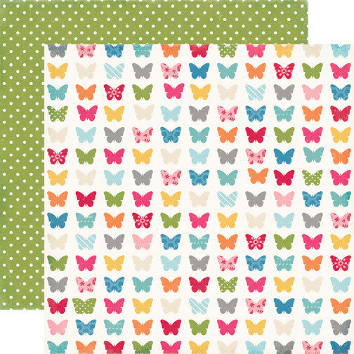Echo Park Fluttering Butterflies - Fine and Dandy - Shop and Crop Scrapbooking