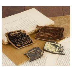 Decorative Wood Embellishments - Typewriters