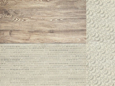 Rustic Harmony 12x12 Scrapbook Paper Delightful - Shop and Crop Scrapbooking