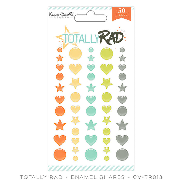 Totally Rad Enamel Shapes - Shop and Crop Scrapbooking