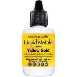 Ken Oliver Color Burst Liquid Metals - Yellow Gold - Shop and Crop Scrapbooking