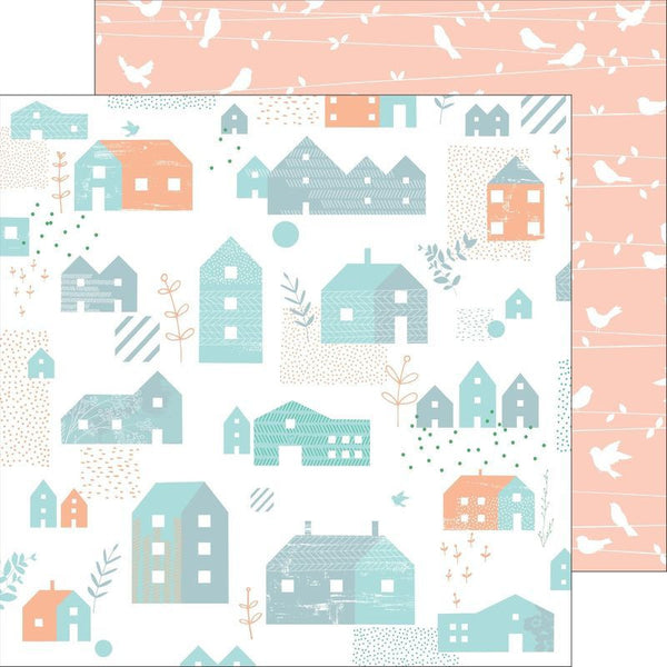 Pink Fresh Studio Felicity Lovely Home Paper - Shop and Crop Scrapbooking