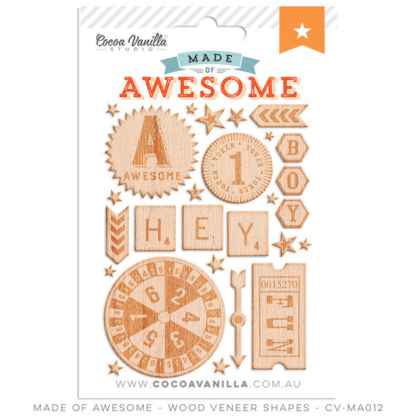 MADE OF AWESOME WOOD VENEER - Shop and Crop Scrapbooking