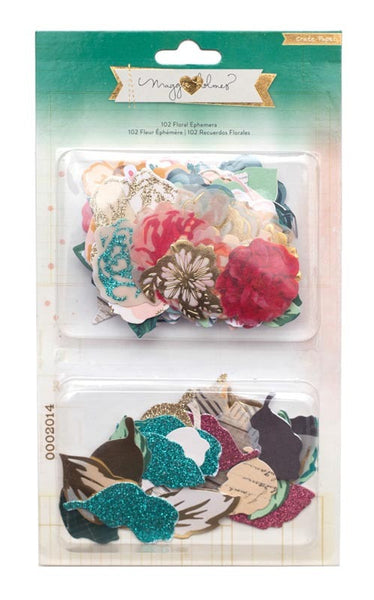 OPEN BOOK Maggie Holmes 102 Floral Ephemera - Shop and Crop Scrapbooking