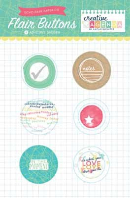 Creative Agenda Flair Buttons - Shop and Crop Scrapbooking