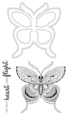 Kaisercraft Decorative Die & Stamp Butterfly - Shop and Crop Scrapbooking