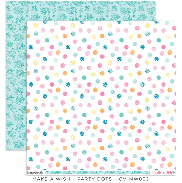 Cocoa vanilla Studio Make A Wish Party Dots - Shop and Crop Scrapbooking