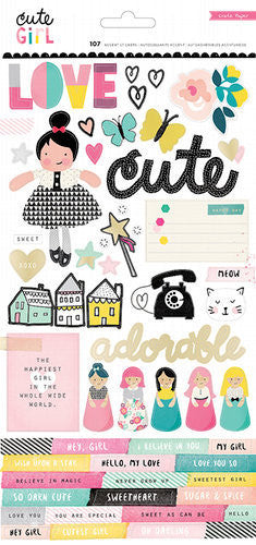 Cute Girl - 6 x 12 - Gold Foil - Shop and Crop Scrapbooking