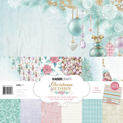 Christmas Wishes Paper Pack with Bonus Sticker Sheet - Shop and Crop Scrapbooking