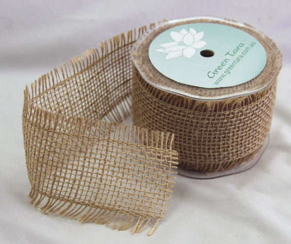 Burlap Ribbon 65mm, Natural. 100% Jute. - Shop and Crop Scrapbooking
