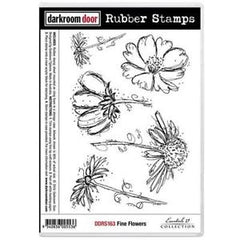 Rubber Stamp Set - Fine Flowers