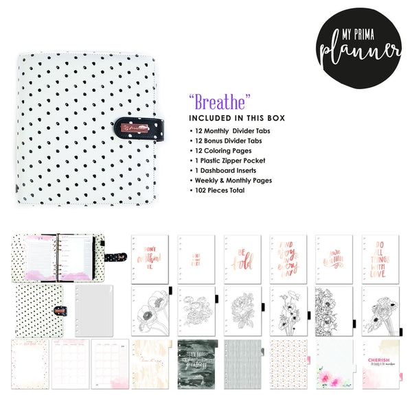"PREORDER : My Prima Planner - ""Breathe"" - Shop and Crop Scrapbooking"