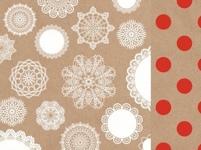 Mix & Match - 12x12 Scrapbook Paper Doilies - Shop and Crop Scrapbooking