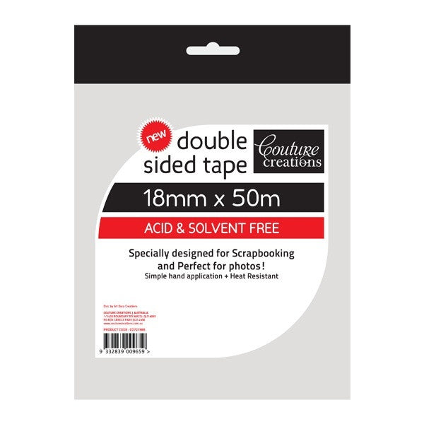 Double Sided Tape 18mmx50m - Shop and Crop Scrapbooking