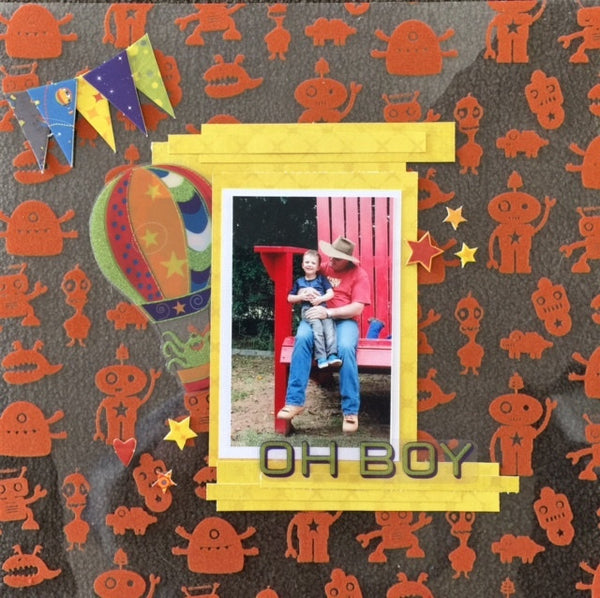 Oh Boy Scrap N Go Kit - Shop and Crop Scrapbooking