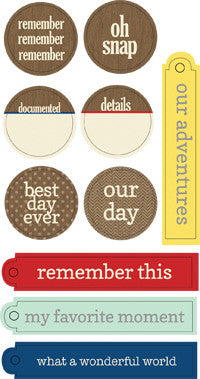 Destination Circle & Tag Stickers - Shop and Crop Scrapbooking