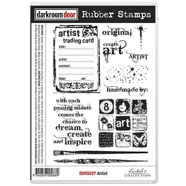 Rubber Stamp Set - Artist - Shop and Crop Scrapbooking