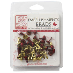 Red and Gold Embellishment Brads
