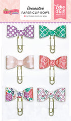 Echo Park Once Upon A Time Princess Decorative Paper Clip Bows