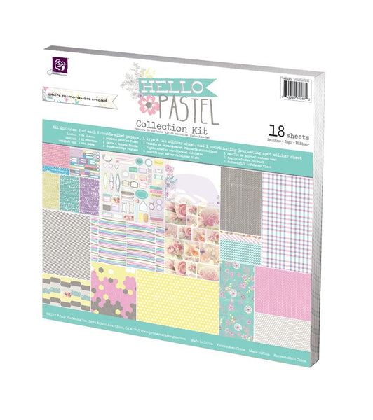 Hello Pastel - Collection Kit - Shop and Crop Scrapbooking