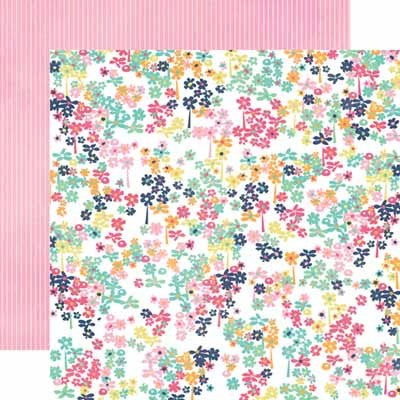 Small Floral Paper- Creative Agenda - Shop and Crop Scrapbooking